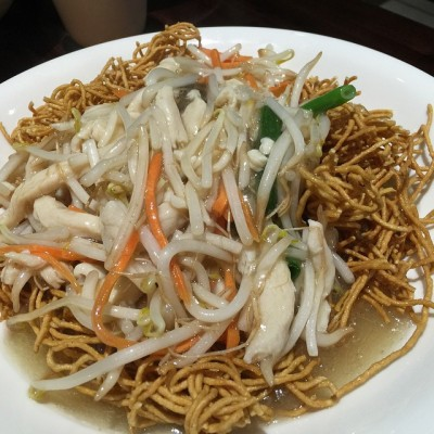 no.298 shredded chicken crispy noodle @ Noodle Oodle
