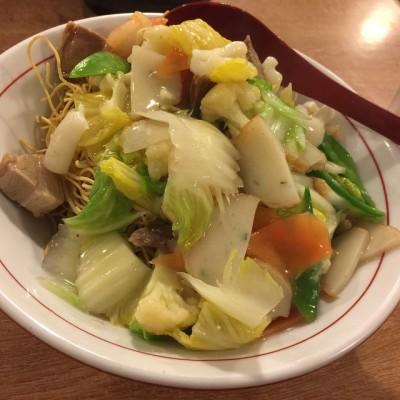 no.299 海鮮かたやきそば(seafood fried ramen) @ Ittenbari