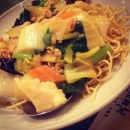 no.241 メニューにない什錦炒麺(揚げ麺ver.) @ 芙蓉菜館