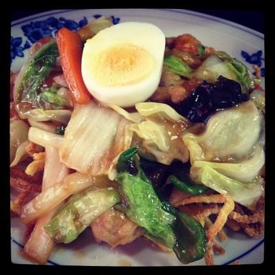 no.60 硬炸麺(かたい焼きそば) @ 五香菜館